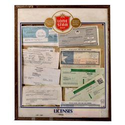 Lone Star Beer Advertising License Holder