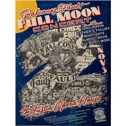 Balcones Fault Full Moon Concert Poster