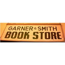 Garner Smith Bookstore Wooden Sign