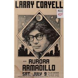 Armadillo World Headquarters Larry Coryell Poster