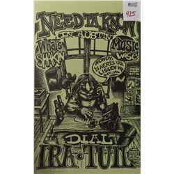 Ira Tull Austin Music Poster, Micael Priest 1973