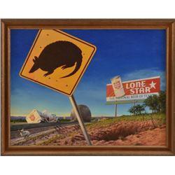 Sam Yates Lone Star Beer Advertising Original Art