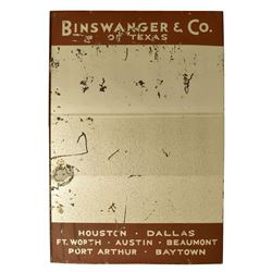 Binswanger & Co. Of Texas Advertsing Mirror