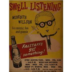 Falstaff Beer Meredith Wilson Radio Poster