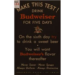 """Make This Test!"" Budweiser Poster"