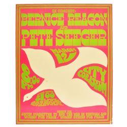 Pete Seeger Vulcan Gas Co. Austin Concert Poster