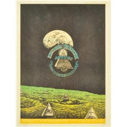Jim Franklin Vulcan Gas Co. Moon Pyramids Handbill