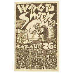 Wood Shock Austin Concert Poster