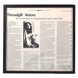 Framed Janis Joplin Article From Threadgills