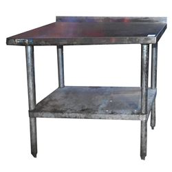 Pair of Stainless Steel Tables From Threadgills