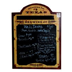 Two Texas Brewing Co. Chalkboards