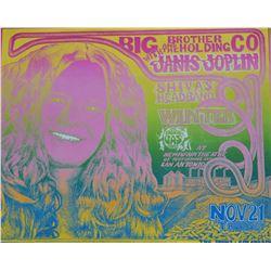 Janis Joplin Vulcan Gas Co. Poster by Jim Franklin