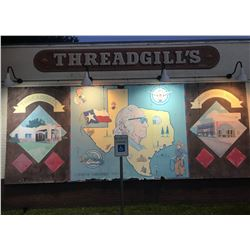 Threadgills Mural & Hand Painted Sign