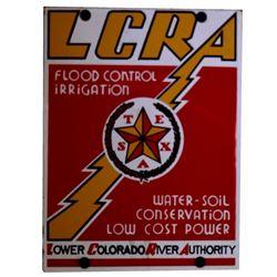 LCRA Austin Texas Porcelain Sign