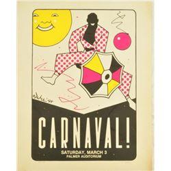 1984 Austin Carnaval! Signed Poster 49/100