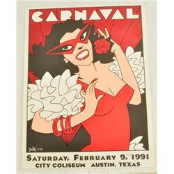 1991 Austin Carnaval Signed Poster