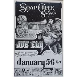 Joe Ely Soap Creek Saloon Poster