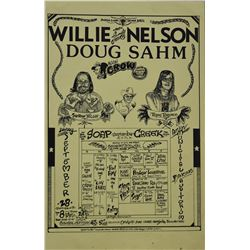 Willie Nelson & Doug Sahm Soap Creek Saloon Poster