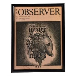 1973 Texas Observer Jim Franklin Armadillo Cover