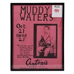 Antone's Muddy Waters Small Poster