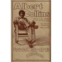Albert Collins Armadillo World Headquarters Poster