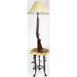 Hand made floor lamp with antique shotgun