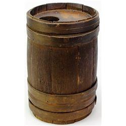 Early wooden powder keg