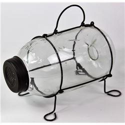 Glass minnow trap