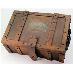 Reproduction Wells Fargo iron strong box