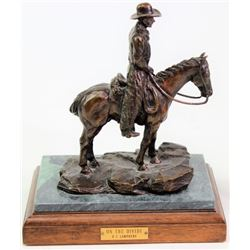 """""""On the Divide"""" table top bronze by Dale Lamphere"""