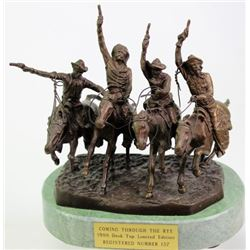 """Coming through the Rye"" restrike desk top bronze"