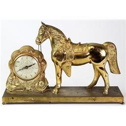 Vintage United electric horse clock