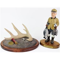 Collection of 2 includes resin sculpture