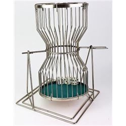 "Large gambling chuk a luk cage 17"" tall"