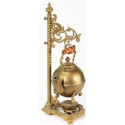 Victorian brass hanging tea pot
