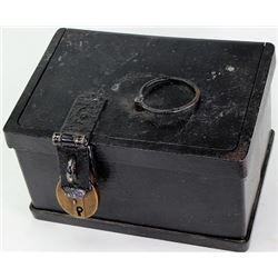 Antique iron strong box