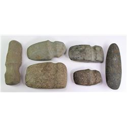 Collection of 6 stone artifacts