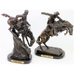 Collection of 2 Frederic Remington restike