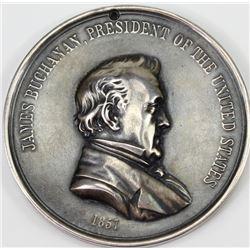 President James Buchanan peace metal