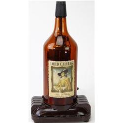 Glass Lord Calvert whiskey bottle radio