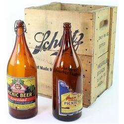 Scarce wooden Schlitz beer crate