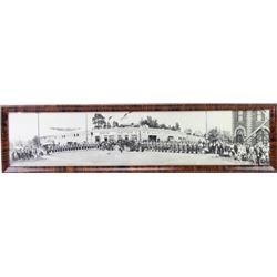 Original panoramic framed photo