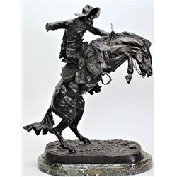 """Bronze """"Bronco Buster"""" by Frederic Remington"""