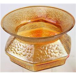 Unusual depression glass period spittoon