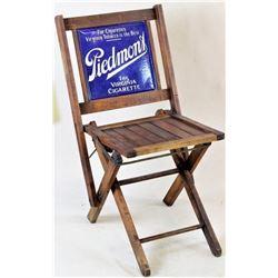 C. 1930's Piedmont Cigarette adv. folding chair