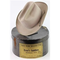 Ernst Saddlery Sheridan WY marked cowboy hat