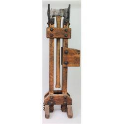 Frontier blacksmith made sharpening stand