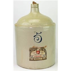 5 gallon stoneware whiskey jug