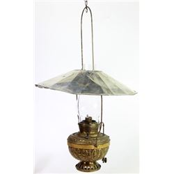Antique Miller hanging mammoth lamp