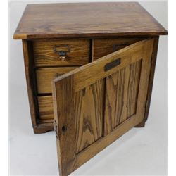 Scarce antique oak stereo view cabinet